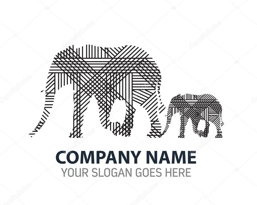 mother and baby elephant vector logo stock vector gagu 106056146