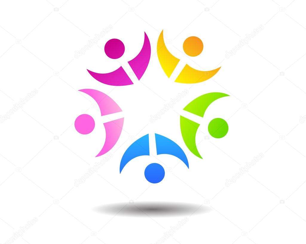 Abstract People Unity Logo — Stock Vector © gagu #111804050