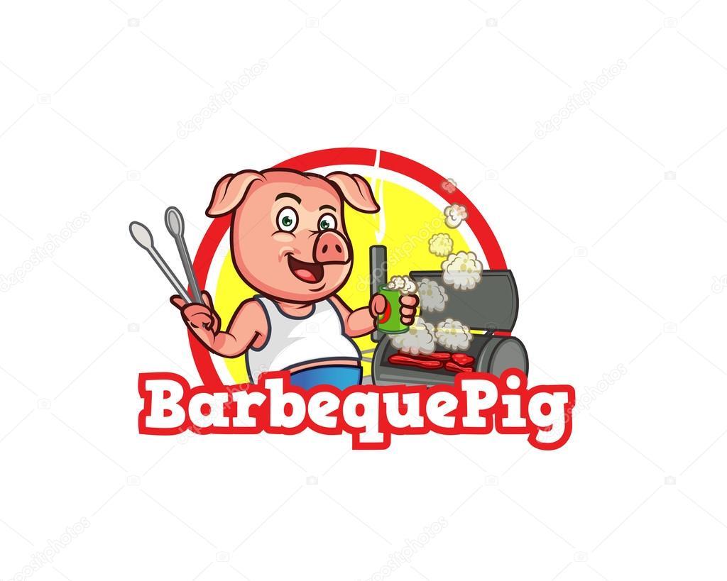 Plantilla de logotipo de cerdo barbacoa — Vector de stock © gagu ...