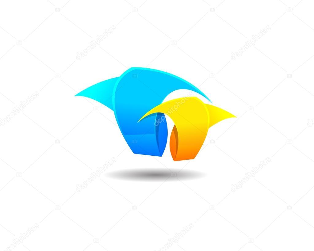 Abstract Grass Logo Icon Template