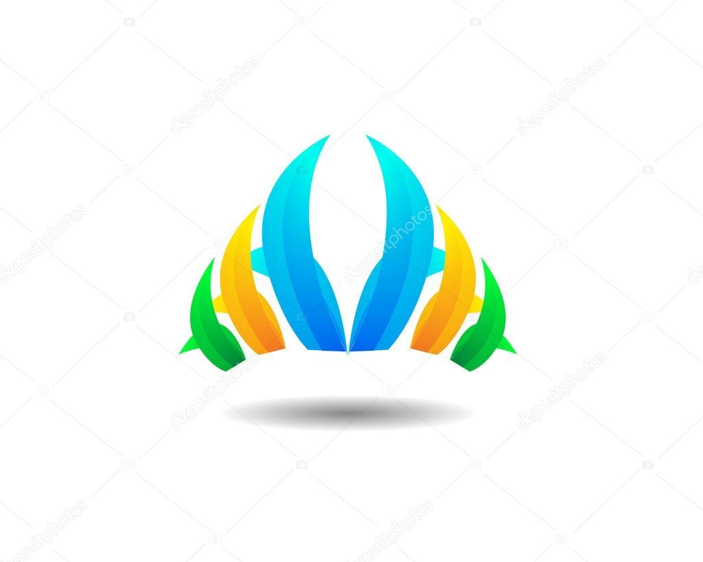 Abstract Grass Logo Icon