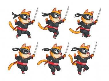 Cat Ninja Running Sprite
