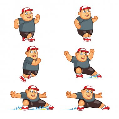 Fat Boy Sliding Sprite