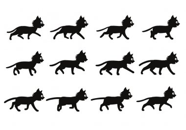 Black Cat Walking Sprite