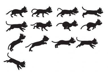 Black Cat Jumping Sprite
