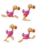 Fényképek futó dodo sprite