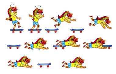 Kitty Skateboard Sprite