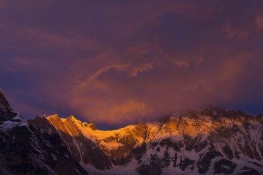 View of Annapurna I from Annapurna Base Camp Himalaya Mountains