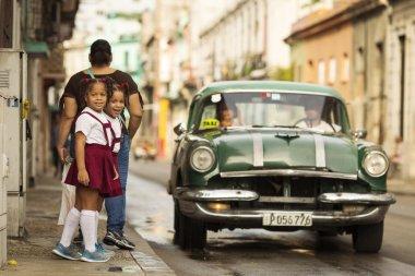 HAVANA, CUBA-OCTOBER 15:Old car on streets of Havana October 15,