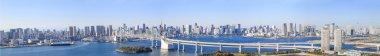 Panorama view of Tokyo bay, Japan.