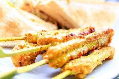 Chicken satay, the famous food in southeast asia.