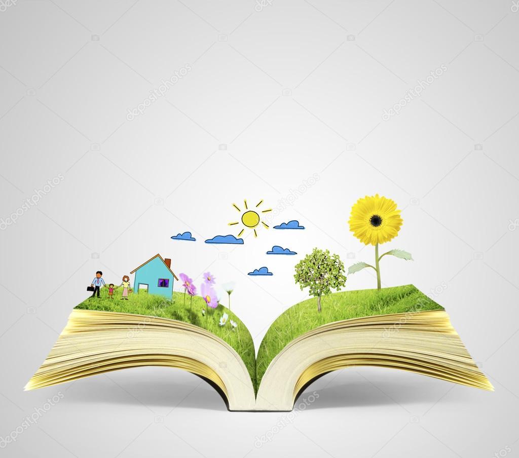 Open magic book — Stock Photo © violetkaipa #72727287