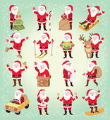 Sada ikon Vánoce s Santa Claus