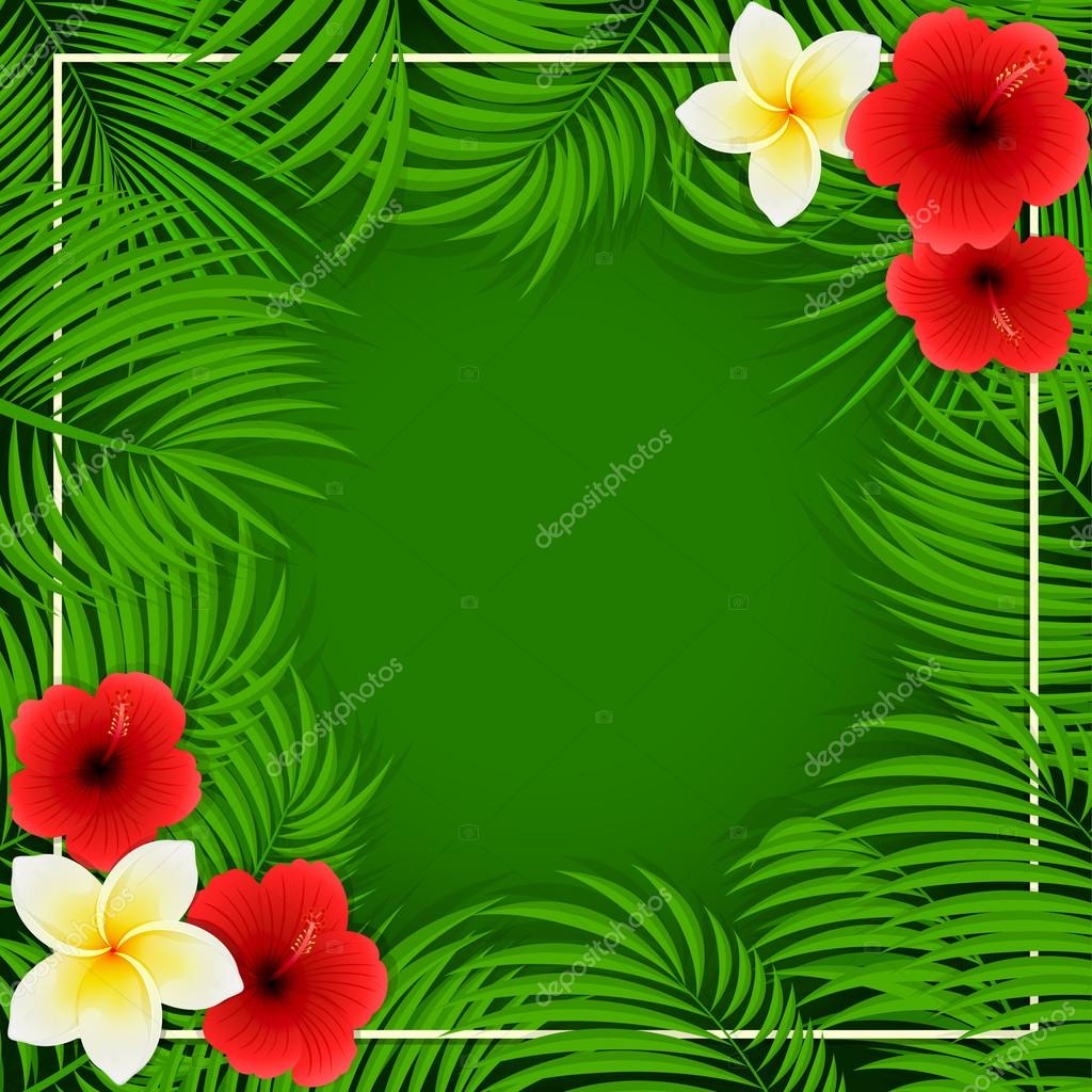Hawaiian flowers on green background stock vector losw 113658858 hawaiian flowers on green background stock vector izmirmasajfo