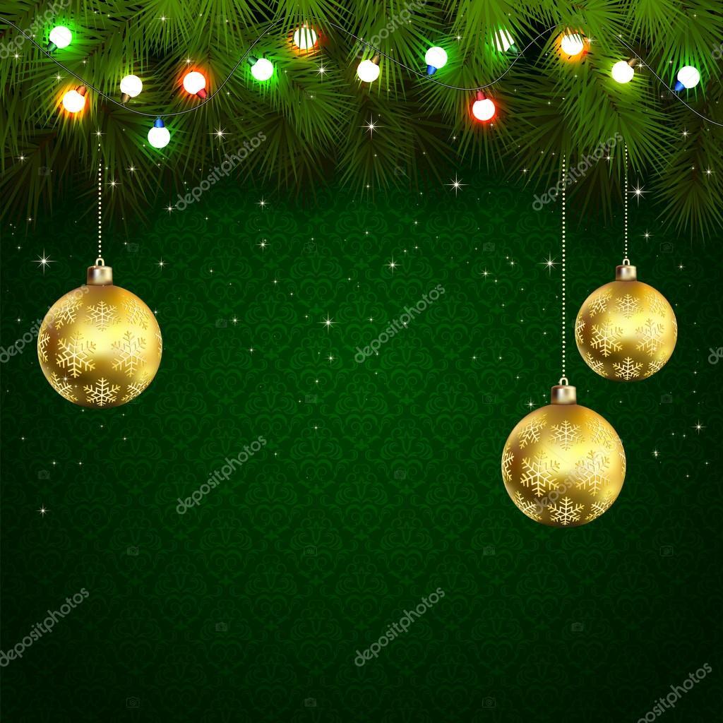 c9b5f65109f Fondo de pantalla verde con ramas de árbol de Navidad