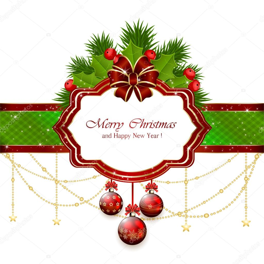 Kartki świąteczne Z Elementy Dekoracyjne Grafika Wektorowa