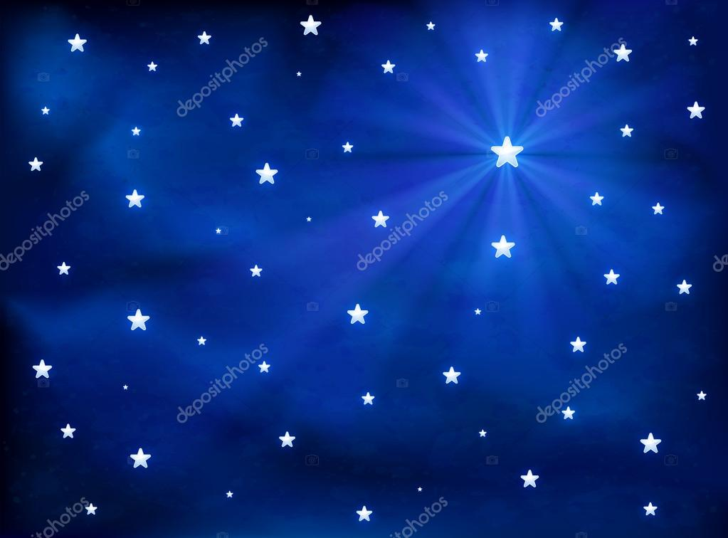 Stars in the blue sky