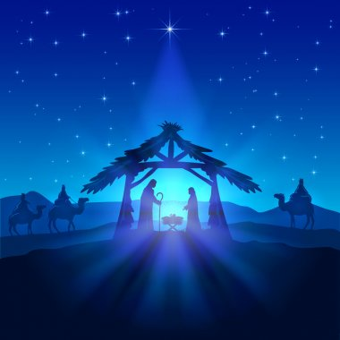 Christmas star and birth of Jesus