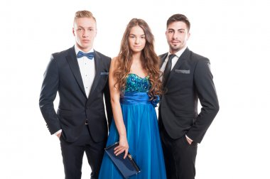 Beautiful people, one woman and two male models