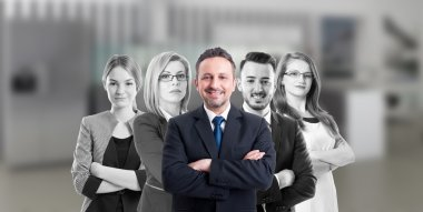Business manager and company people