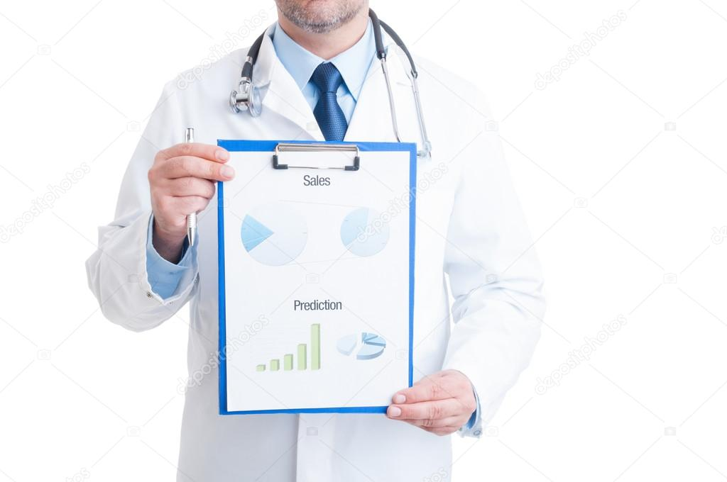 Anonymous Doctor Showing Medical Charts  Stock Photo  Catalin