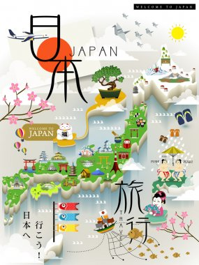 Japan travel map