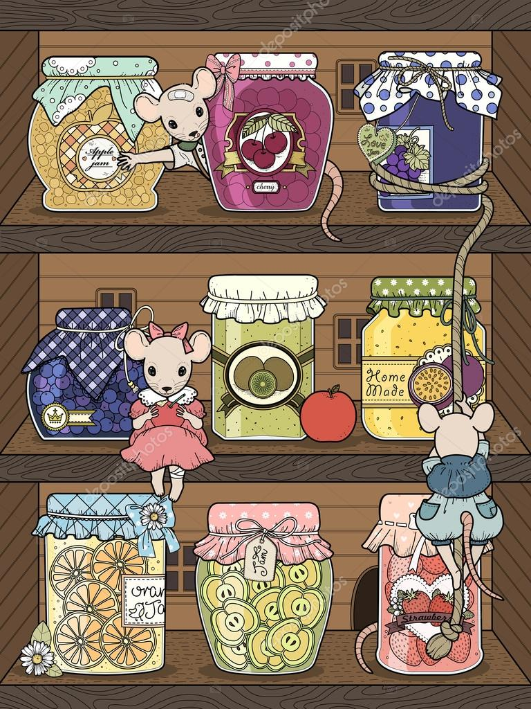 liebenswert Mäuse Färbung Seite — Stockvektor © kchungtw #103773294