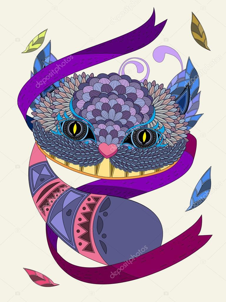 Lächeln der Katze Färbung Seite — Stockvektor © kchungtw #103773454