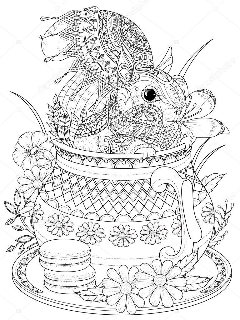 wiewiórka ładny kolorowanki dla dorosłych — grafika