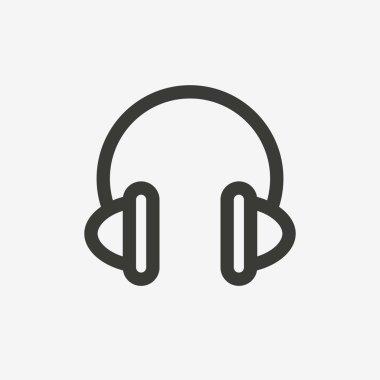 headphone line icon