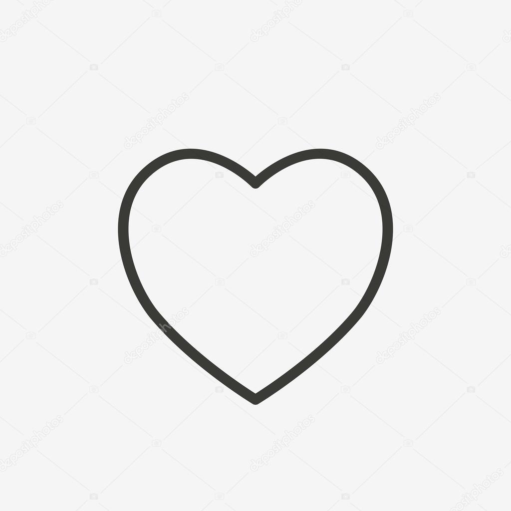 heart outline icon u2014 stock vector kchungtw 120047612