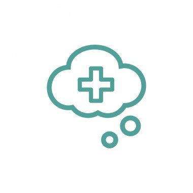 Medical cloud icon