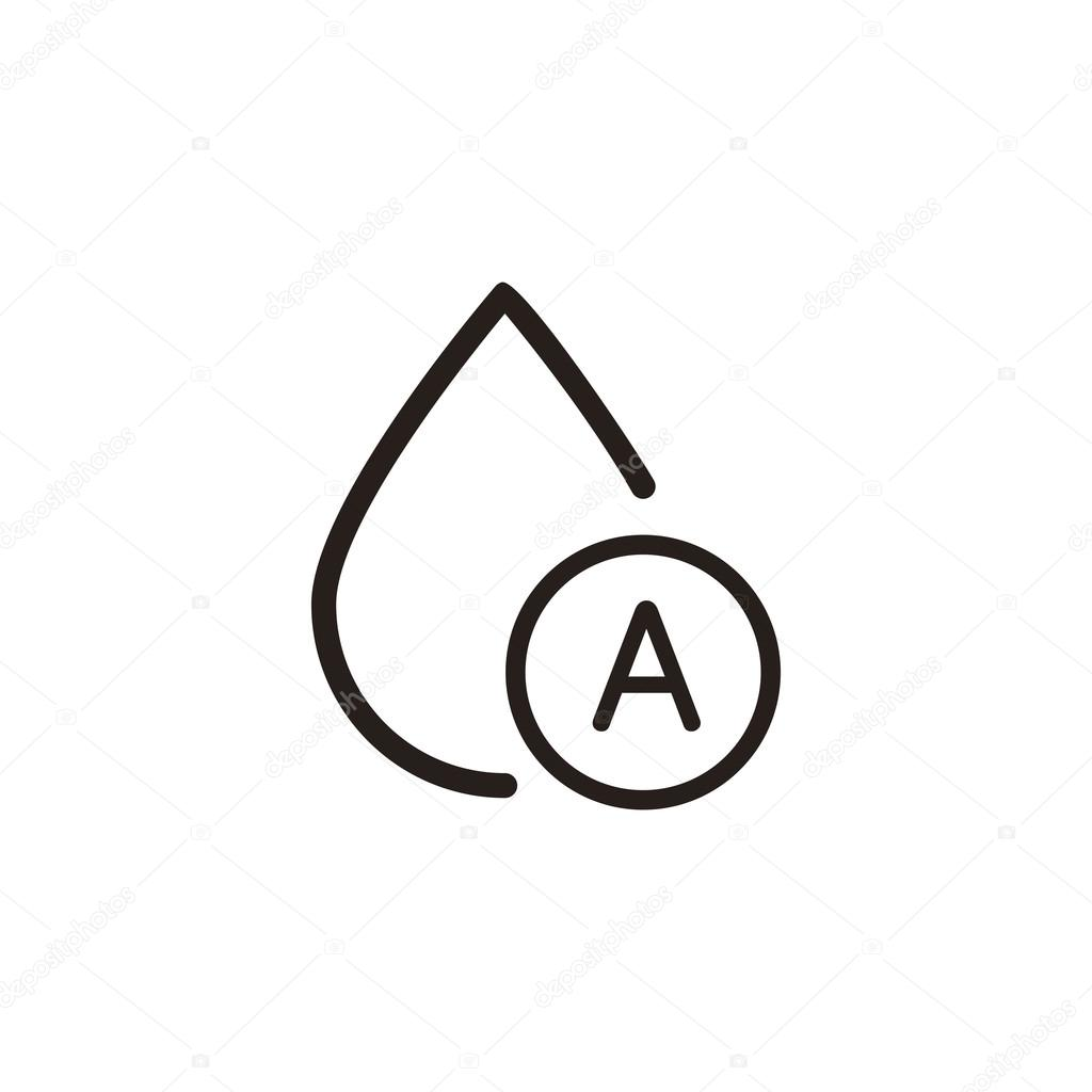 A type blood drop stock vector kchungtw 120053930 a type blood drop thin line icon in dark brown color vector by kchungtw buycottarizona Choice Image