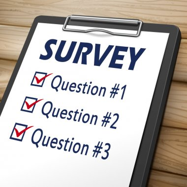 survey clipboard illustration