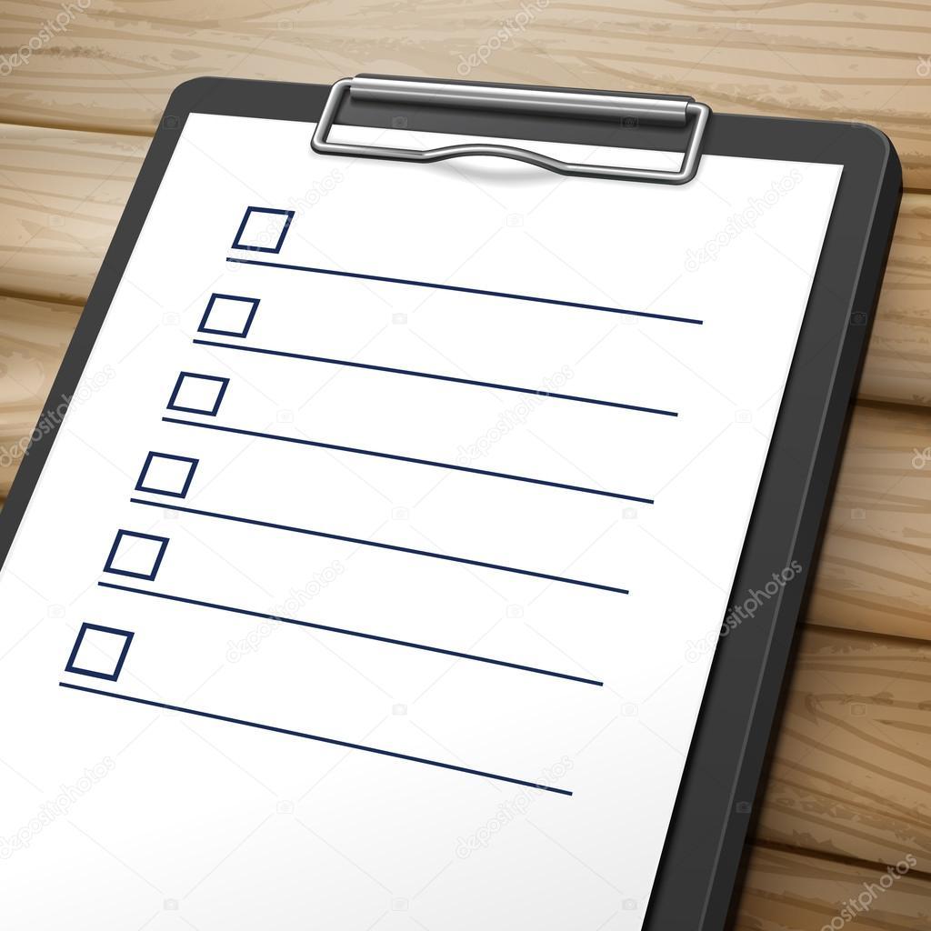 blank checklist clipboard stock vector kchungtw 120315148