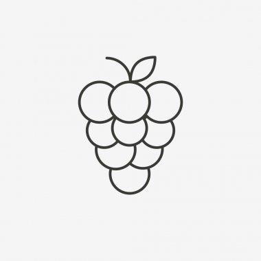 grape outline icon