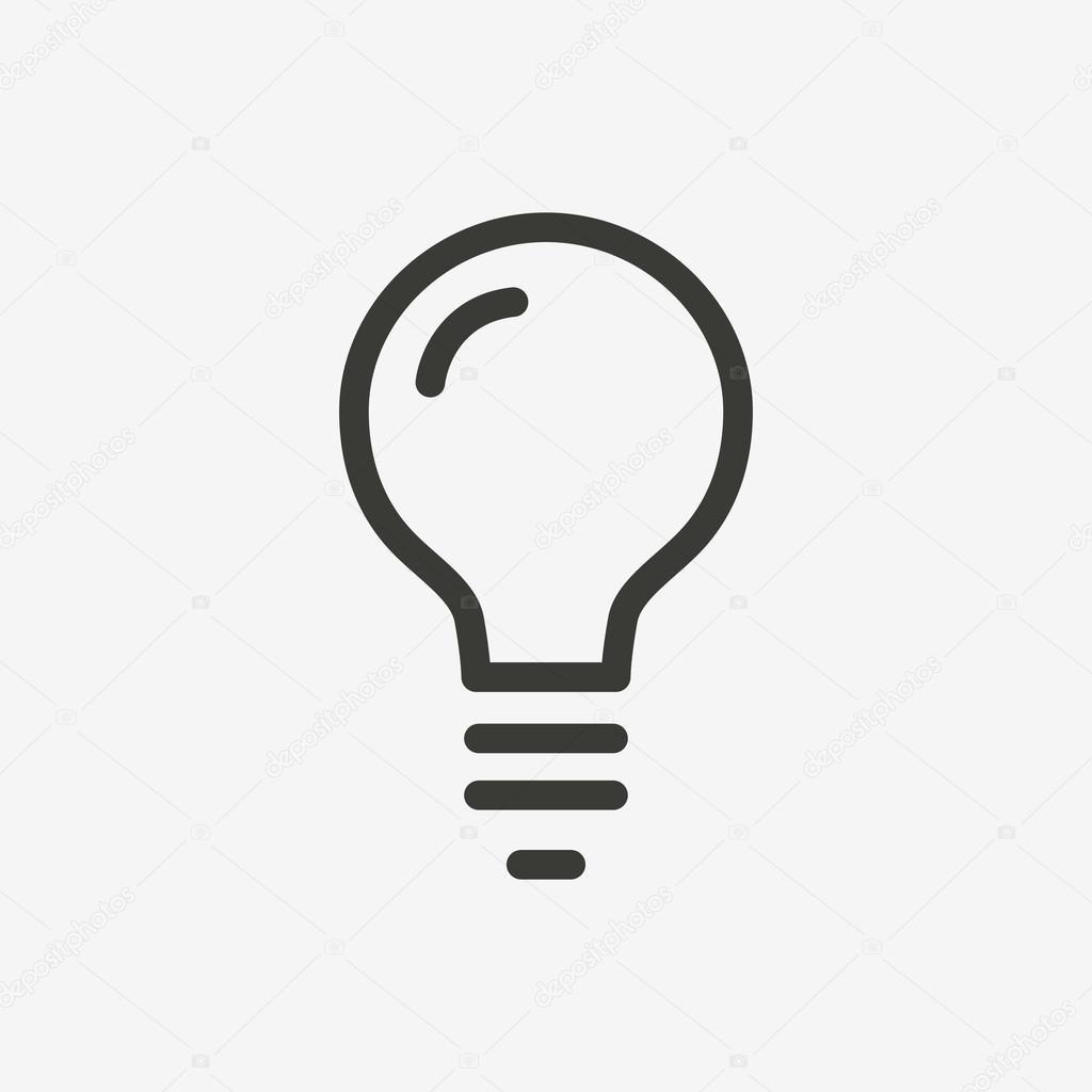 icon glühbirne — Stockvektor © kchungtw #121010948