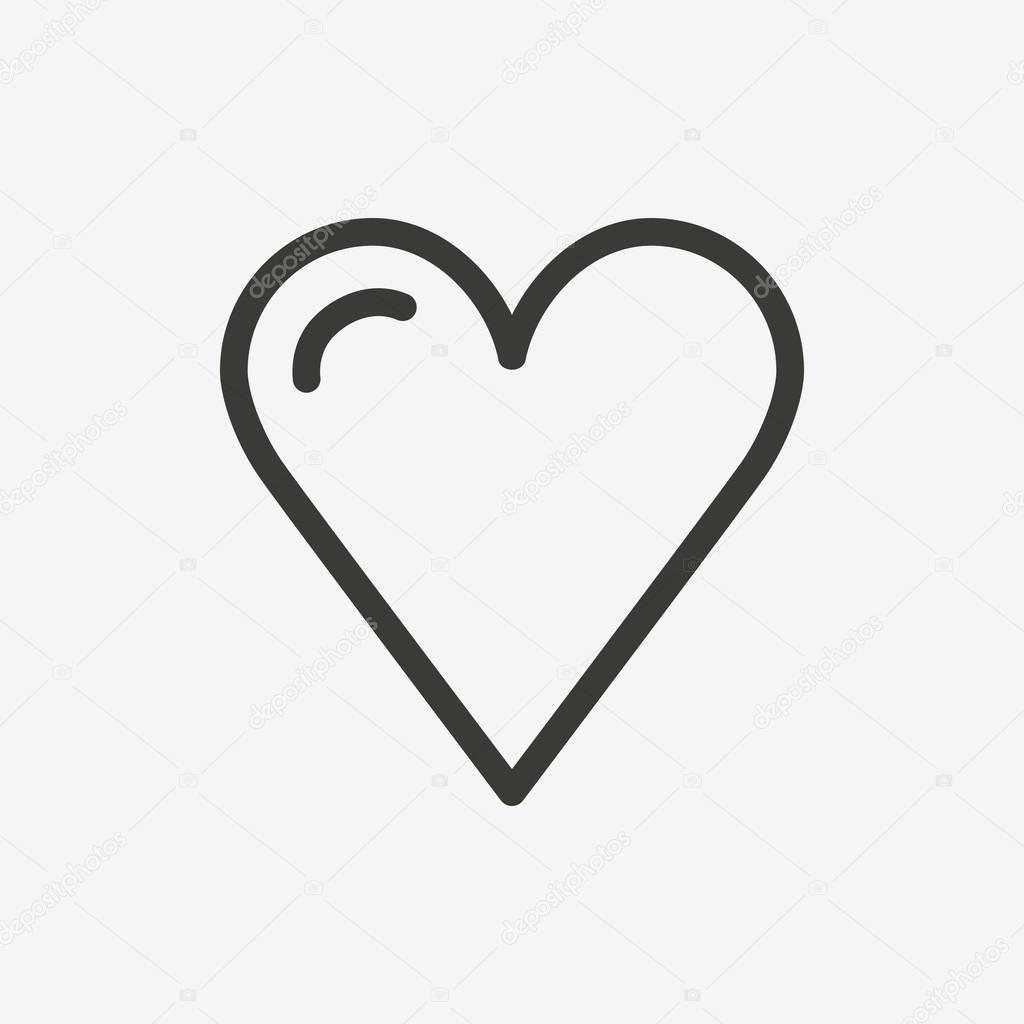 heart outline icon u2014 stock vector kchungtw 121010990
