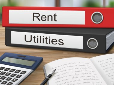 rent and utilities on binders