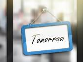 tomorrow hanging sign