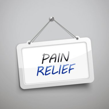 pain relief hanging sign