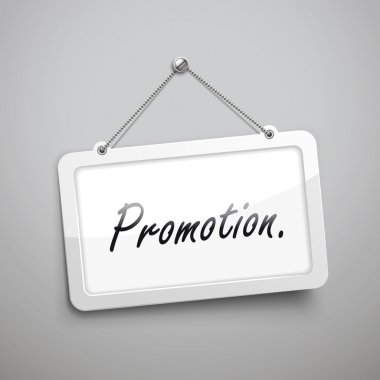 promotion hanging sign