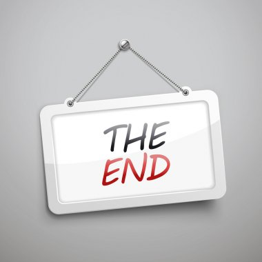the end hanging sign