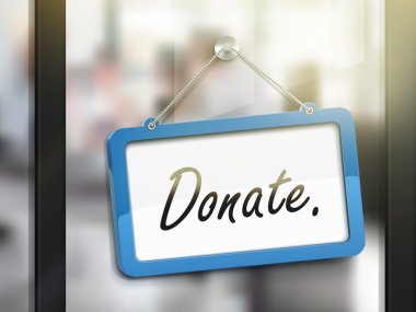 donate hanging sign