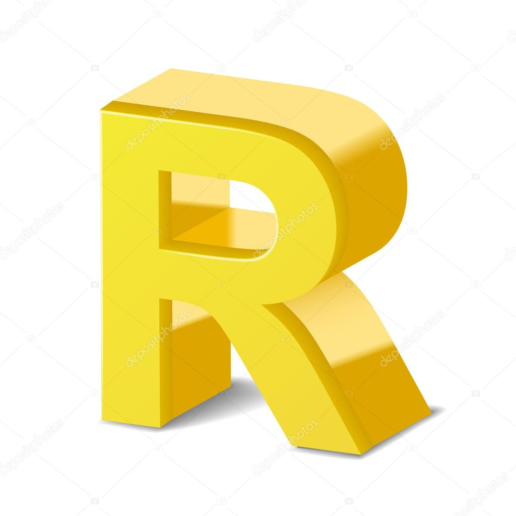 3d yellow letter r stock vector kchungtw 123174470 3d image yellow letter r isolated on white background vector by kchungtw thecheapjerseys Image collections