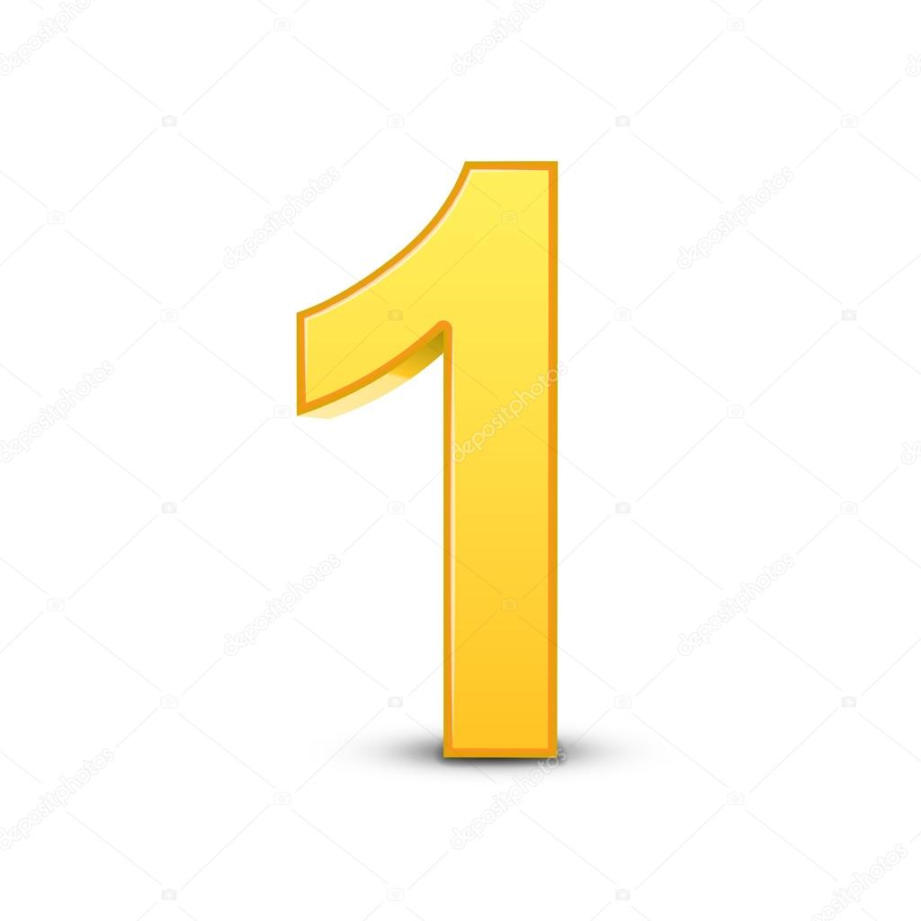 3d brilhante amarelo n mero 1 vetor de stock kchungtw 123175226. Black Bedroom Furniture Sets. Home Design Ideas
