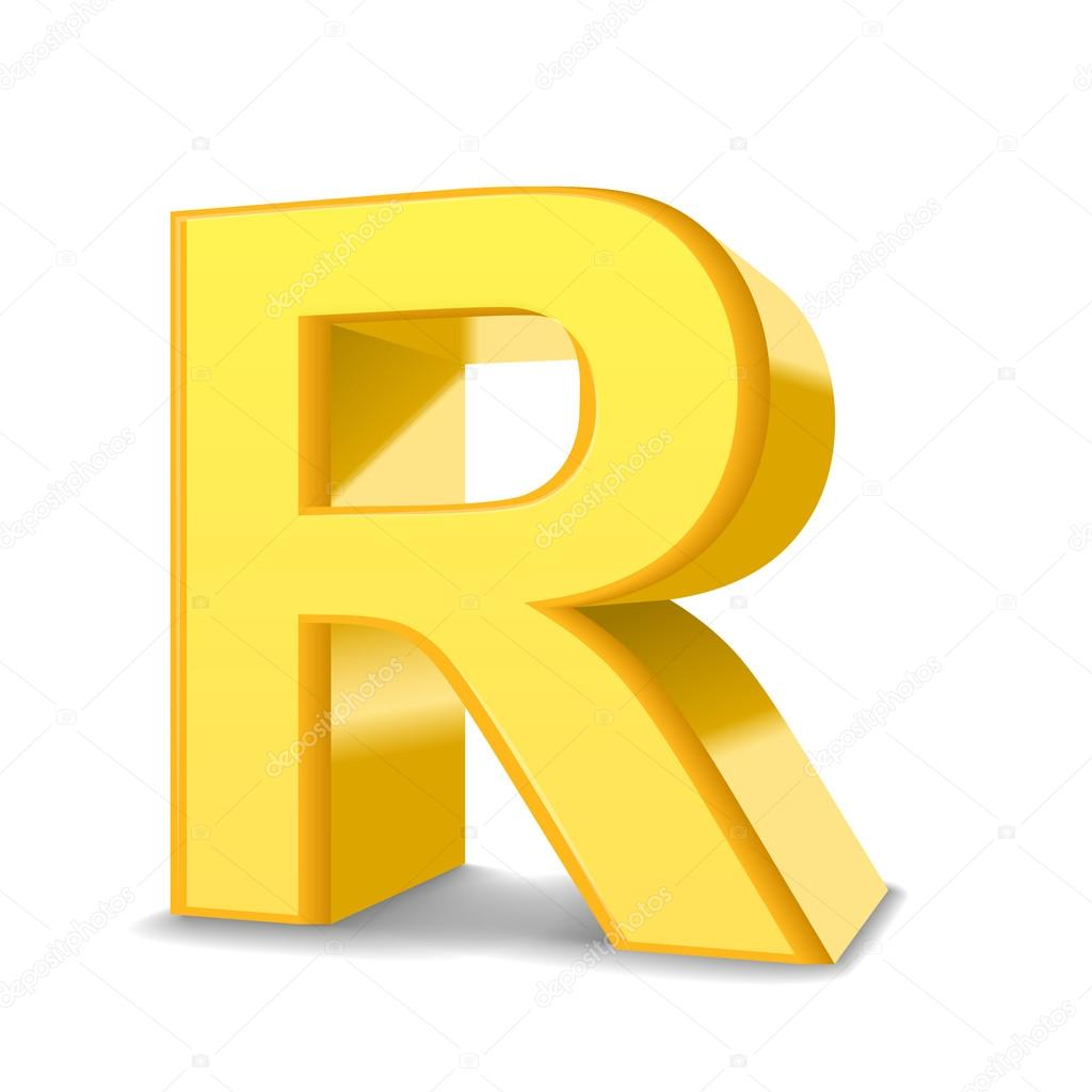 3d yellow letter r stock vector kchungtw 123175476 3d image yellow letter r isolated on white background vector by kchungtw altavistaventures Image collections