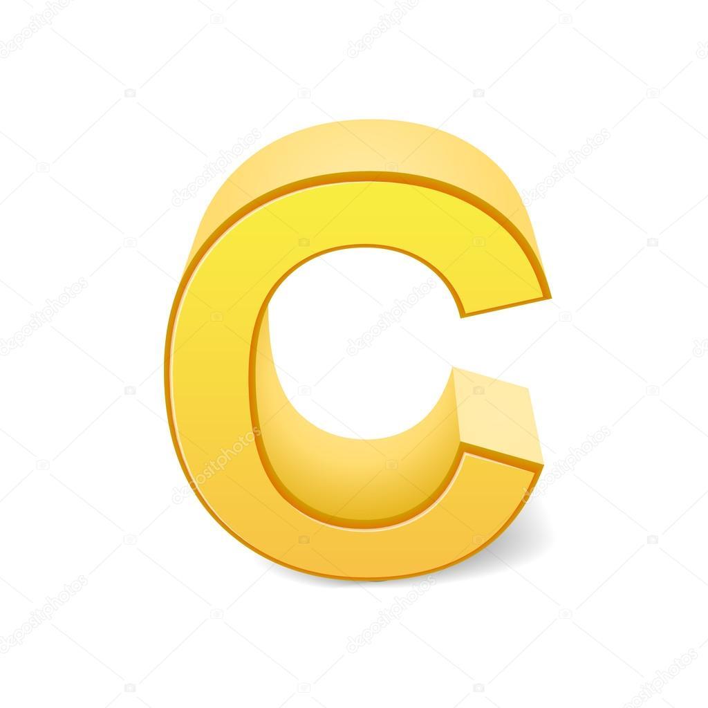 3D jaune lettre C — Image vectorielle kchungtw © #123176652