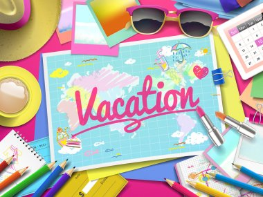 Vacation on map
