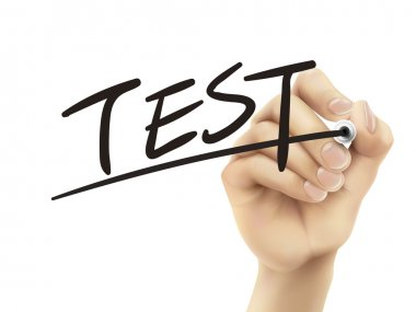 Test written by hand